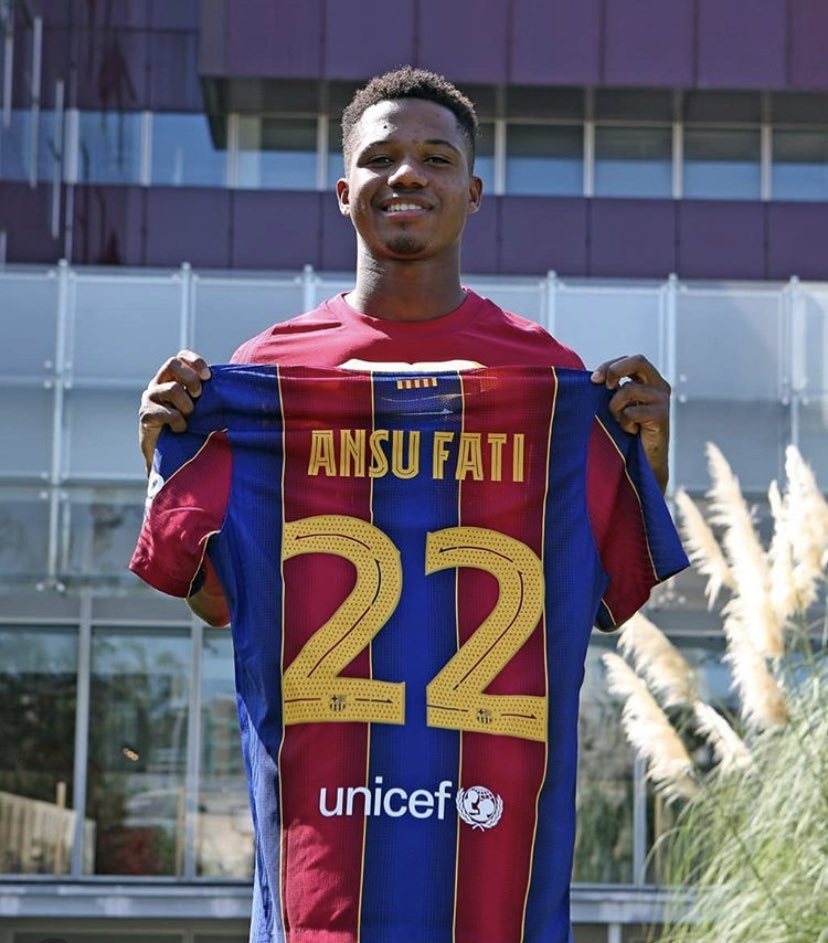 Ansu Fati seems happy after the deal